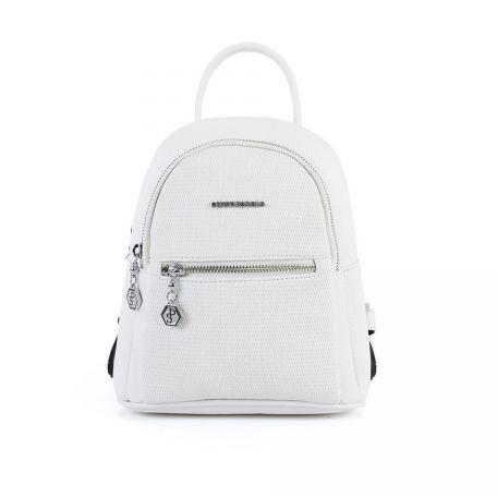 376151845f7 Naiste seljakott väike Silver&Polo 912, kärjemustriga, valge | Anobion
