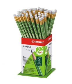 Harilik pliiats Stabilo Green kummiga HB