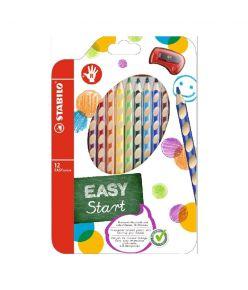 Värvipliiats 12 värvi  Stabilo Easy colors P+terit.