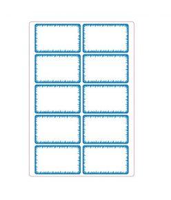 Vihikuetikett sinine / valge, 50 etiketti