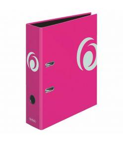 Registraator 8 cm Color Block neoonroosa