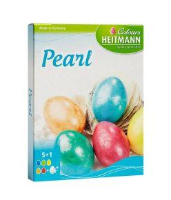 Munavärvid  Pärliläige 5 värvi +kindad 60379 ( Lihavõtte )