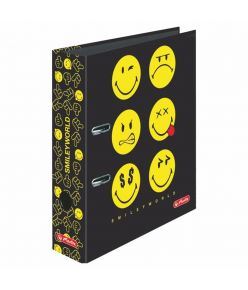 Registraator 8cm Smiley Black