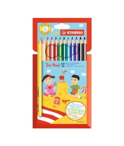 Värvipliiats 12 värvi  Stabilo  Trio jäme