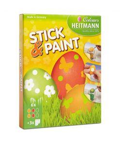 Munavärvid  Stick and Paint 6 värvi+kleepsud ( Lihavõtte )