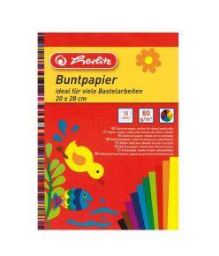Värviline paber 20x28/10L 80g Herlitz
