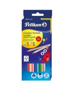 Värvipliiats 12 värvi  Pelikan kolmnurkne SOFT