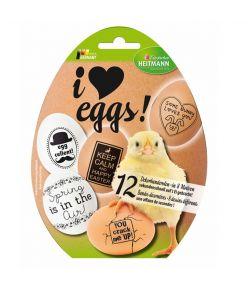 Munakaunistus I love eggs 12 termo dekoratsiooni