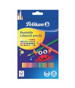 Värvipliiats 36 värvi  Pelikan kuusnurkne SOFT