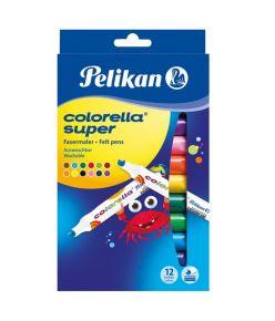 Viltpliiats 12 värvi Pelikan jäme - pestav