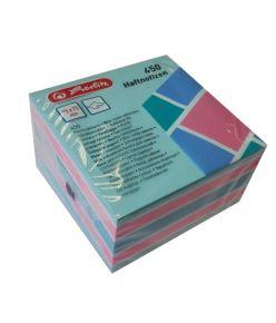 Märkmepaber 75x75mm Color Block värvilised lehed