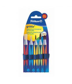 Pintsel ergonoomiline Pelikan Griffix 5 tk sünteetilised