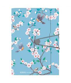 Lõõtsmapp A4 Ladylike Birds 12 vahega