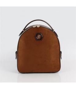 Naiste seljakott SP-logoga Silver&Polo 810 kaalmelipruun kunst seemisnahk