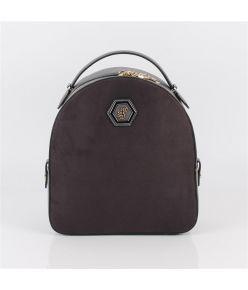 Naiste seljakott SP-logoga Silver&Polo 810, tumehall/antratsit kunst seemisnahk