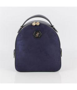 Naiste seljakott SP-logoga Silver&Polo 810, sinine kunst seemisnahk