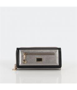 Naiste rahakott lukkudega Silver&Polo 846, hõbe/must