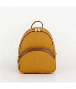 Naiste seljakott kuldsete lukkudega Silver&Polo 865, kollane