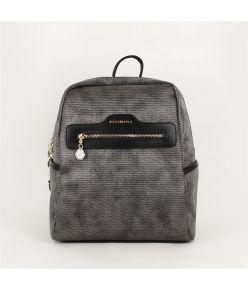Naiste seljakott eestaskuga Silver&Polo 866, hõbehall/must