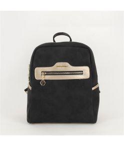 Naiste seljakott eestaskuga Silver&Polo 866, must/kuldne