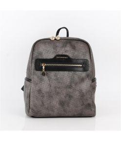 Naiste seljakott eestaskuga Silver&Polo 866, kärjemustriga, metalne/must