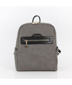 Naiste seljakott eestaskuga Silver&Polo 866, hall/must