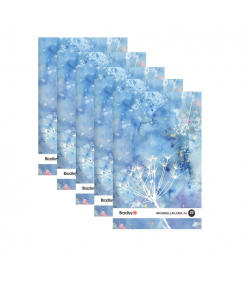 Joonistusplokk A4, 20 lehte, 210g akvarellile, 5 tükki pakis