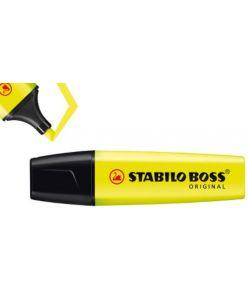Tekstimarker Stabilo Boss kollane 24, 10 tükki pakis