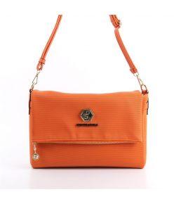 Naiste õlakott klapp-taskuga Silver&Polo 746, kärjemustriga, oranž