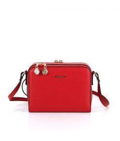 Naiste õlakott karp Silver&Polo 888, punane