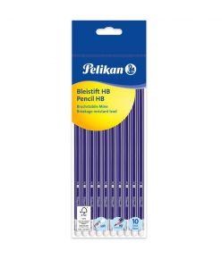 Harilik pliiats 10 tk Pelikan - HB, kustukummiga