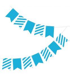 Banner M&M triibuline sinine 2,5m