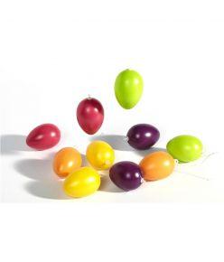 Lihavõtte kaunistus plastist värvilised munad 6cm 10 tk