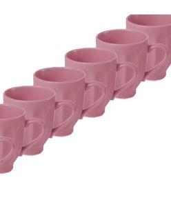 Keraamilised kruusid LOHUKE 10cm roosa 24 tk