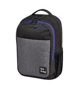 Koolikott-seljakott be.bag Be Clever - hall/must/sinine, 18 l