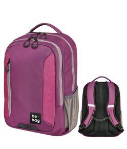 Koolikott-seljakott be.bag Be Adventurer - lilla/roosa/beež, 18 l