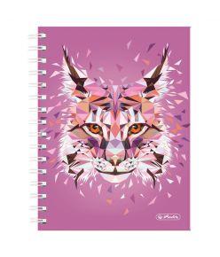 Spiraalmärkmik Wild Animals / Ilves -  A5/100, ruuduline