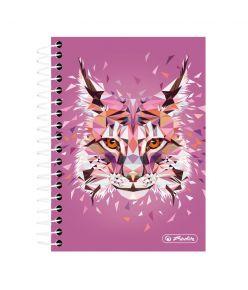 Spiraalmärkmik Wild Animals / Ilves - A6/200, ruuduline
