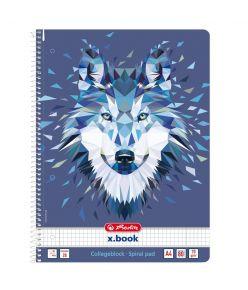 Spiraalkaustik A4/80 ruuduline Wild Animals / Hunt,