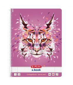 Spiraalkaustik A4/80 ruuduline Wild Animals / Ilves