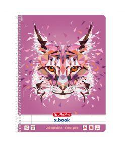Spiraalkaustik A4/80 jooneline Wild Animals /Ilves