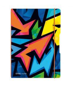 Kaustik Herlitz Flex Neon Art - A4, 40 + 40 lehte (ruut + joon)