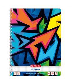 Spiraalkaustik A4/80 ruuduline Neon Art