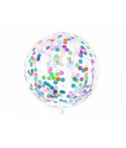 PartyDeco õhupall, diameeter 1 m, konfettidega