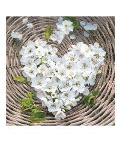 Salvrätik 33x33/20, Flower Heart