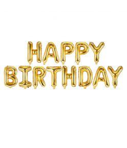 """Fooliumist õhupall """"Happy Birthday"""" - 340 x 35 cm, kuldne"""