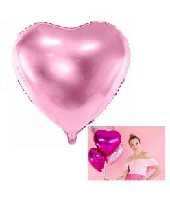 """Fooliumist õhupall """"Süda"""" - 45 cm, roosa"""