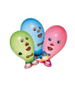 Susy Card õhupall, 6 tk / Naljakad näod