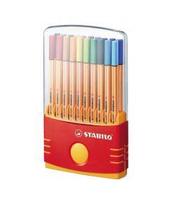 STABILO tindipliiats, point 88, 20 värvi, plasthoidikus