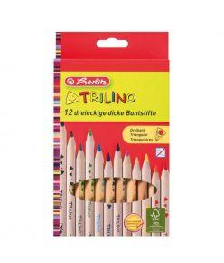 Värvipliiats 12 värvi  H.Trilino puit jäme